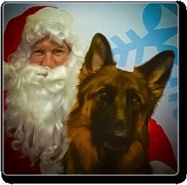 Talia and Santa Claus